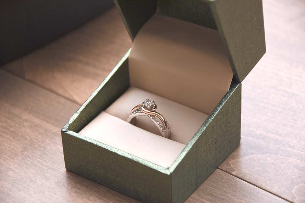 wedding ring in small box