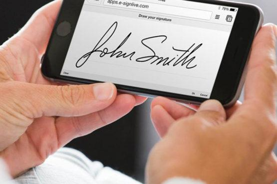 electronic signing